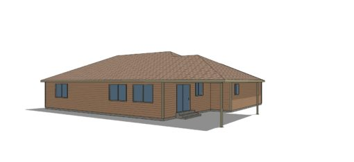 small three bedroom house plan home base back