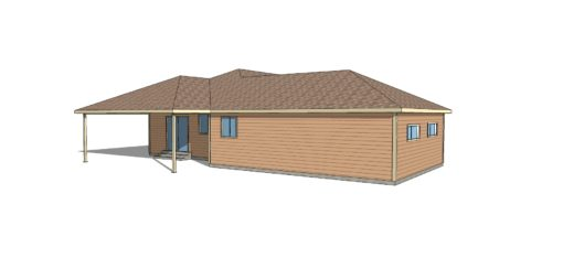 small three bedroom house plan home base left